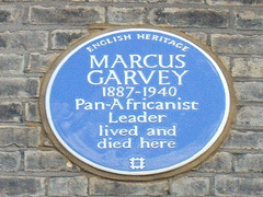 Garvey Plaque at London home