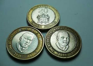 Marcus Garvey on Jamaican 20 dollar coins