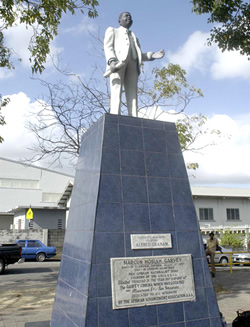 Garvey Statue in Trinidaad